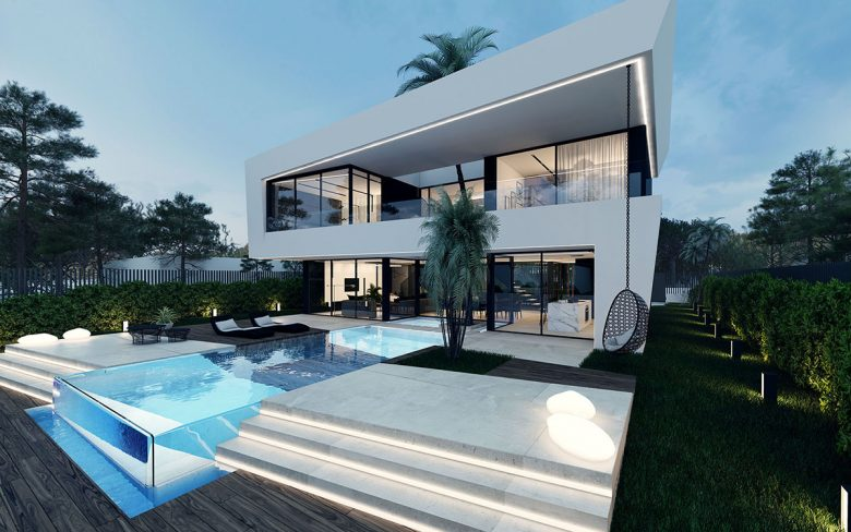 Proyecto de obra nueva de una vivienda unifamiliar en la plana, sitges, barcelona.