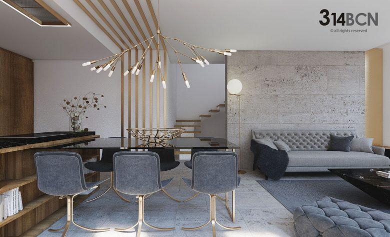reforma integral de una vivienda. Decoración de interior y arquitectura.