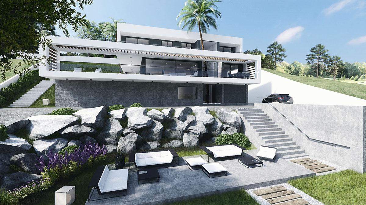 Proyecto de obra nueva de una vivienda en Sitges, Barcelona.