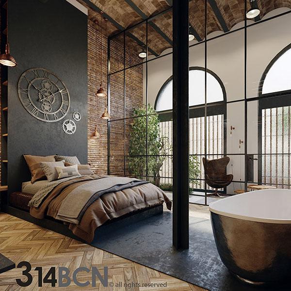 Proyecto de un loft industrial en barcelona