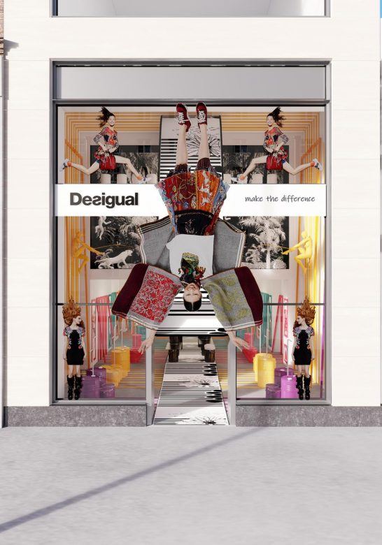 Prototipo Pop Up Store tienda Desigual New York