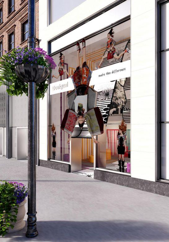 Prototipo Pop Up Store tienda Desigual New York