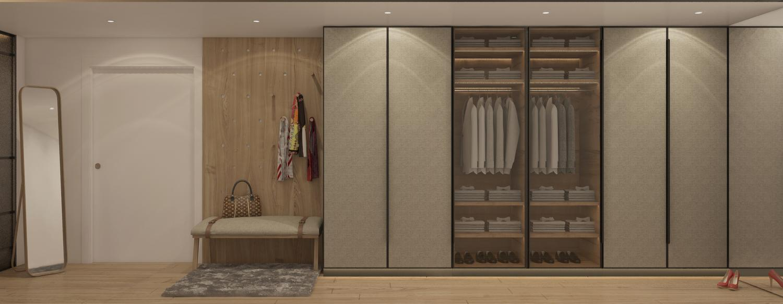 vestidor suite elegante