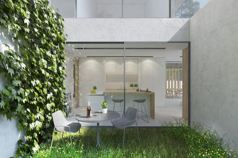 jardin patio interior cocina