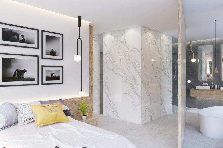 suite con baño abierto
