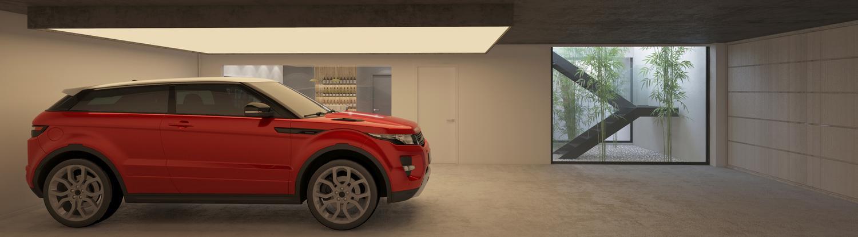 garaje abierto salón