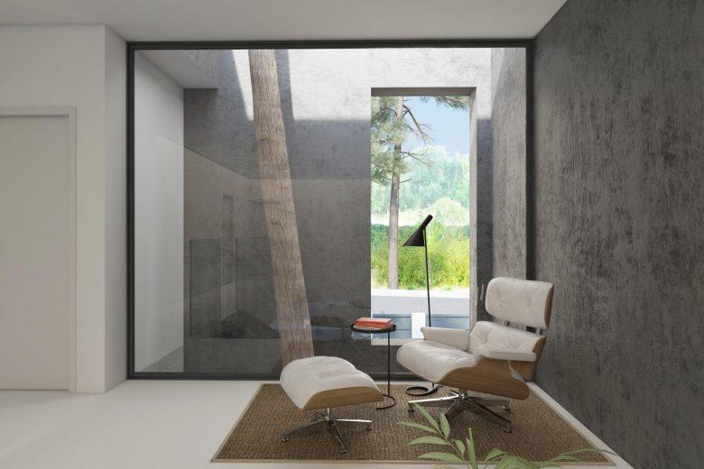 rincón de lectura sillón Eames